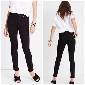 """Madewell 9"""" High then Rise Skinny Black Jeans 28"""